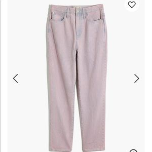 Madewell overdyed momjean size 27